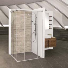 Neue Schiebetechnik für die Dusche – EKU-BANIO