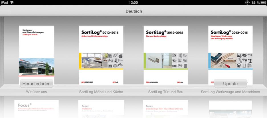 iPad-App mit blätterbaren Produktekatalogen von OPO Oeschger