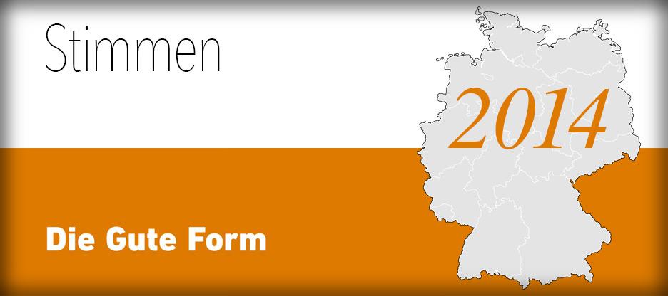 Stimmen zum Bundesentscheid 2014