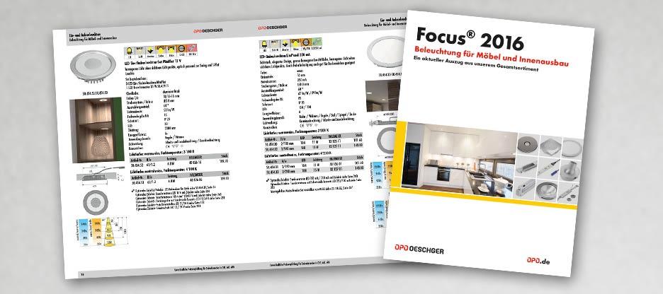 Der neue Focus® 2016 «Beleuchtung für Möbel und Innenausbau» ist da!