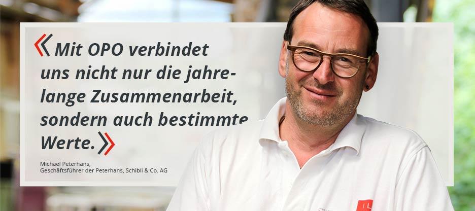 OPO-Kunden im Mittelpunkt – Peterhans, Schibli & Co. AG