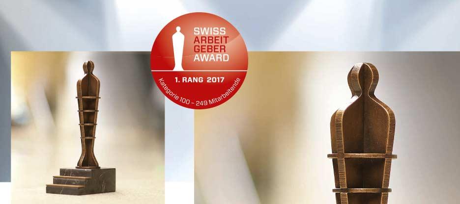 OPO Oeschger gewinnt Swiss Arbeitgeber Award 2017