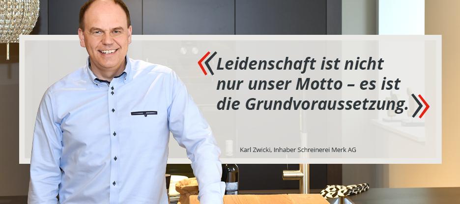 OPO-Kunden im Mittelpunkt: Schreinerei Merk AG