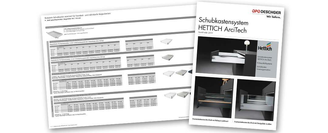 Schubkastensystem HETTICH ArciTech: der neue Quickfinder ist da