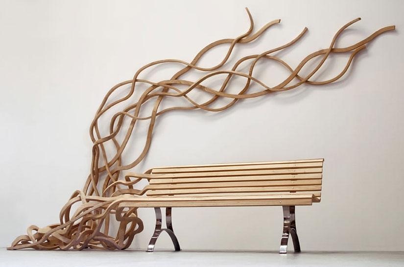 Wächst, wohin der Künstler will – Spaghetti Bench von Pablo Reinoso (www.pabloreinoso.com)