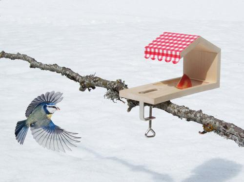 Im Höhenflug: Das Vogelhäuschen