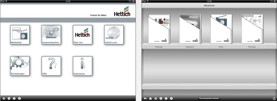 Hettich iPad App