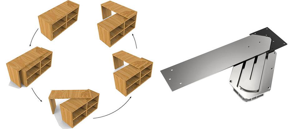 Ziehen, Drehen, Schieben – Eine unmögliche Tischplattendrehung
