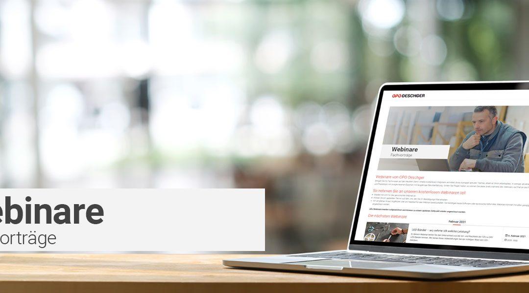 Neu bieten wir kostenlose Webinare mit Top-Referenten