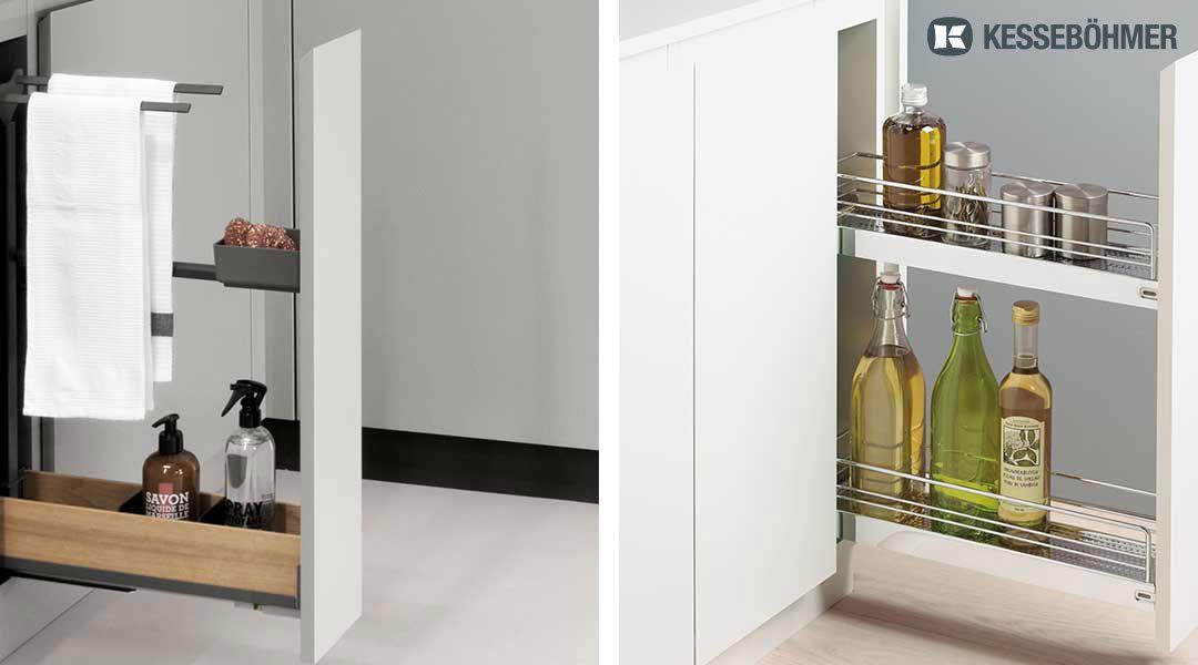 KESSEBÖHMER/PEKA – platzsparende, formschöne Unterschrank-Auszugssysteme für die Küche